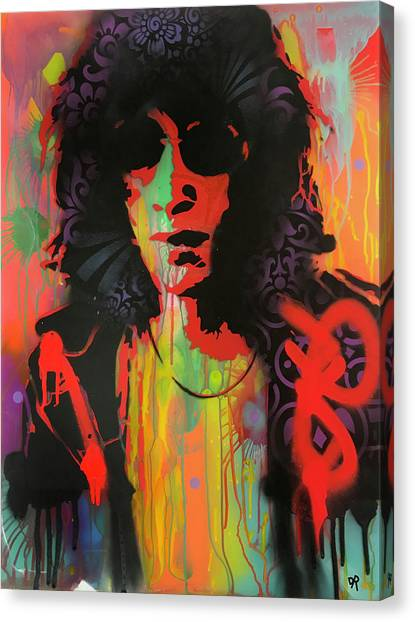 Ramones Canvas Print - Joey Ramone by Dean Russo Art
