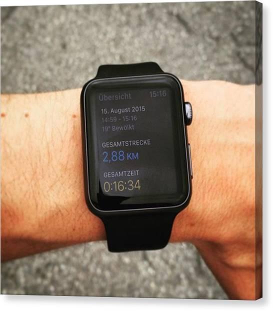 Binders Canvas Print - #jogging #apple #applewatch #watch by Alex Binder