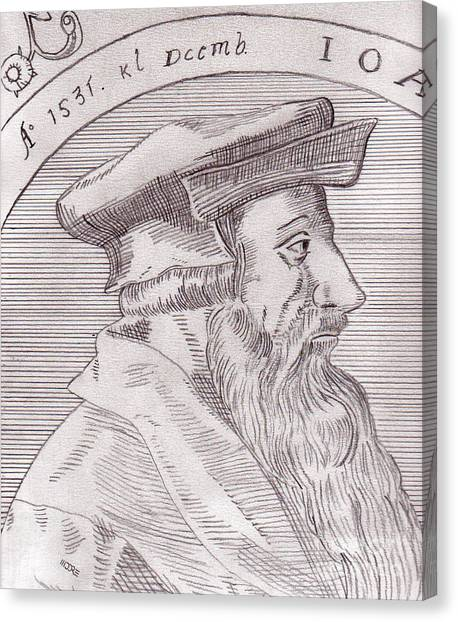 Johannes Oecolampadius Canvas Print