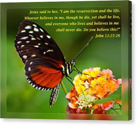 John 11 25-26 Canvas Print
