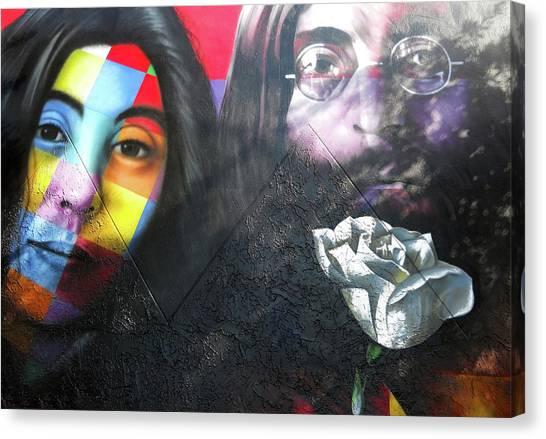 Yoko Ono Canvas Print - Yoko And John  by Juergen Weiss