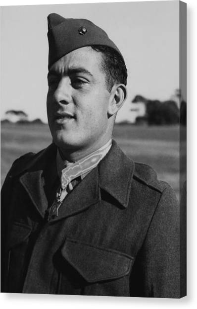 Soldiers Canvas Print - John Basilone by War Is Hell Store