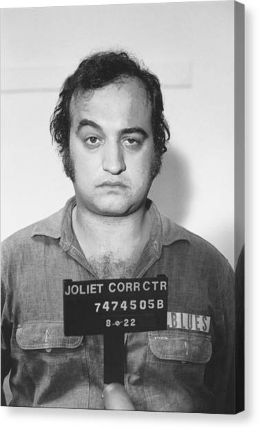 John Belushi Mug Shot For Film Vertical Canvas Print