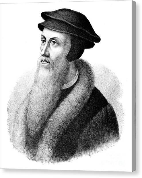 Pastor Canvas Print - John Calvin by FC Wentzel