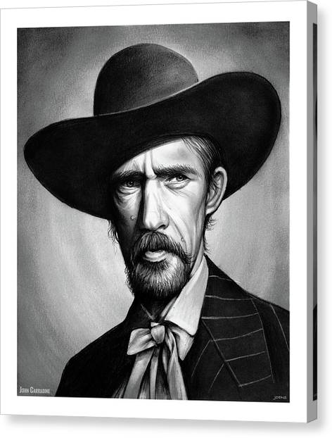 Cowboy Canvas Print - John Carradine by Greg Joens