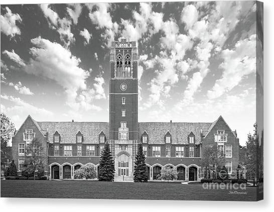Ohio University Canvas Print - John Carroll University Administration Building by University Icons