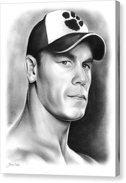 Fighting Canvas Print - John Cena by Greg Joens
