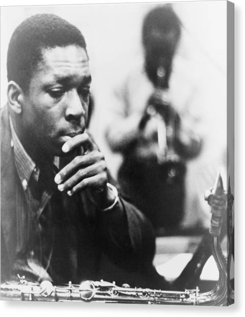 20th Canvas Print - John Coltrane 1926-1967, Master Jazz by Everett