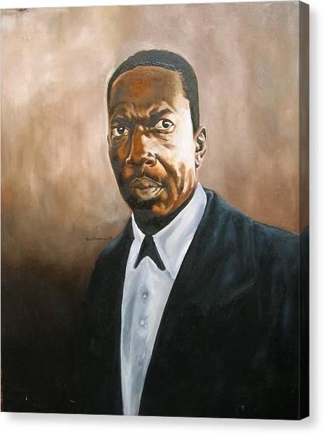John Coltrane Canvas Print by Martel Chapman