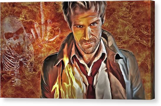 Matt Ryan Canvas Print - John Constantine by Tanya Cordy