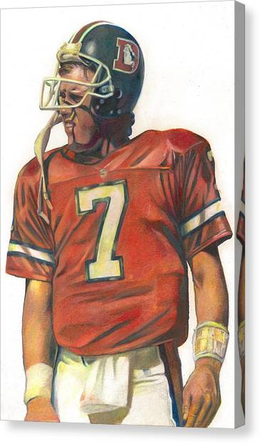John Elway Canvas Print - John by Darren  Chilton