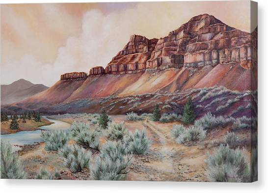 John Day River At 30 Mile Canvas Print