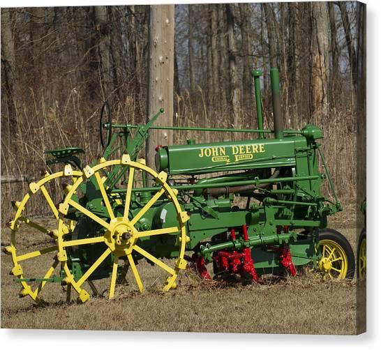 John Deer Tractor Canvas Print