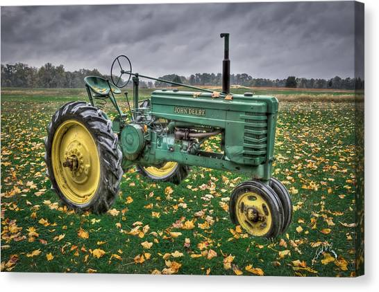 Canvas Print featuring the photograph John Deere 2 by Williams-Cairns Photography LLC