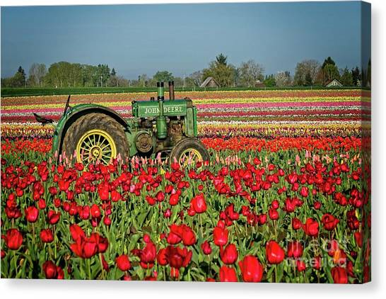 Canvas Print featuring the photograph John Deere by Craig Leaper