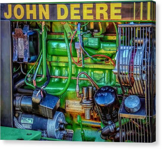 John Deere Engine Canvas Print