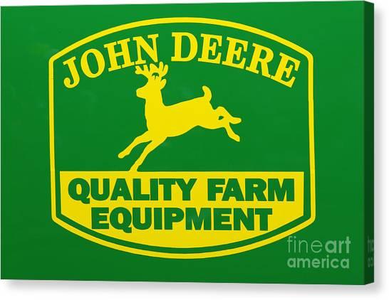 John Deere Farm Equipment Sign Canvas Print