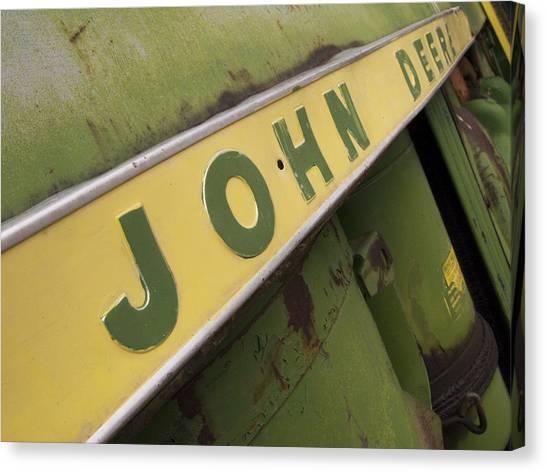Tractor Canvas Print - John Deere by Jeffery Ball