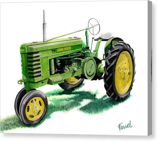 John Deere Canvas Print - John Deere Tractor by Ferrel Cordle