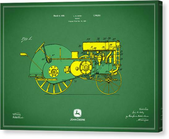 Car blueprint canvas prints page 5 of 25 fine art america car blueprint canvas print john deere tractor patent by mark rogan malvernweather Gallery