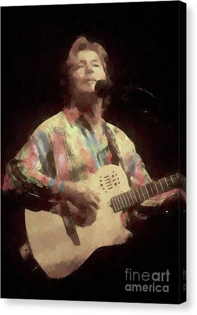 Folk Singer Canvas Print - John Denver Painting by Concert Photos
