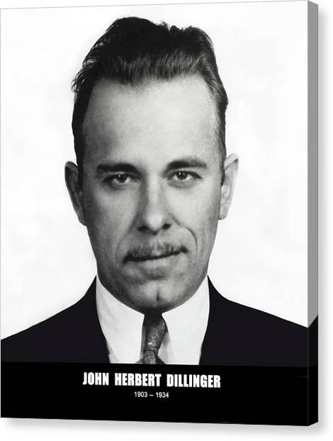 Fbi Canvas Print - John Dillinger - Bank Robber And Gang Leader by Daniel Hagerman