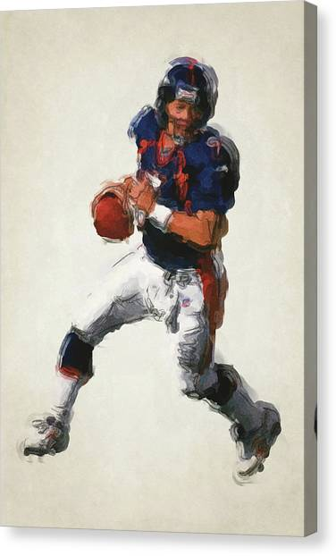 John Elway Canvas Print - John Elway Denver Broncos Art 2 by Joe Hamilton