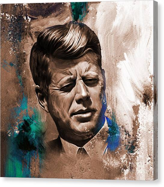 Libertarian Canvas Print - John F. Kennedy 02 by Gull G