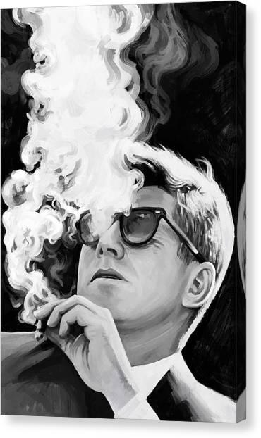 Democratic Presidents Canvas Print - John F. Kennedy Artwork 1 by Sheraz A