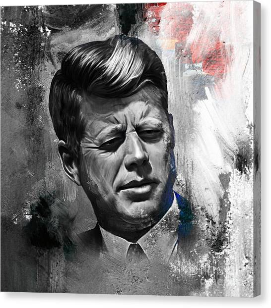 Libertarian Canvas Print - John F. Kennedy by Gull G