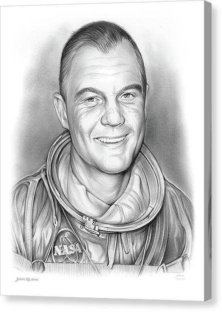 Aviators Canvas Print - John Glenn - Bw by Greg Joens