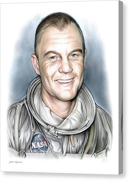 Aviators Canvas Print - John Glenn by Greg Joens