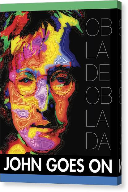 John Goes On Canvas Print
