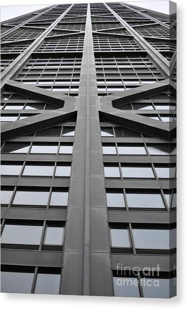 Hancock Building Canvas Print - John Hancock Building by Mary Machare