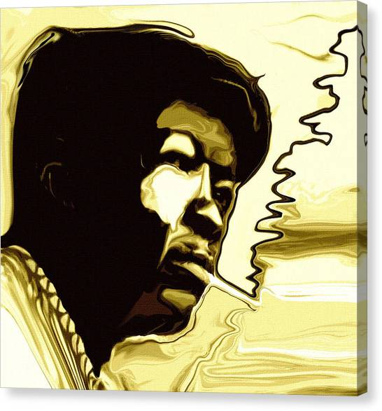 Rhythm Canvas Print - John Lee Hooker by Jeff DOttavio