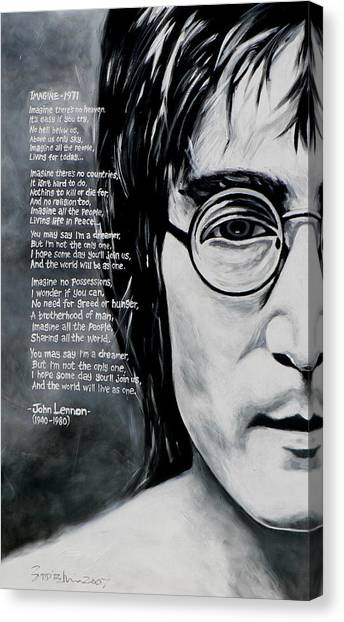 Yoko Ono Canvas Print - John Lennon - Imagine by Eddie Lim