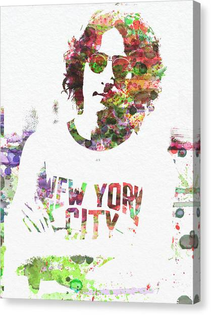 John Lennon Canvas Print - John Lennon 2 by Naxart Studio