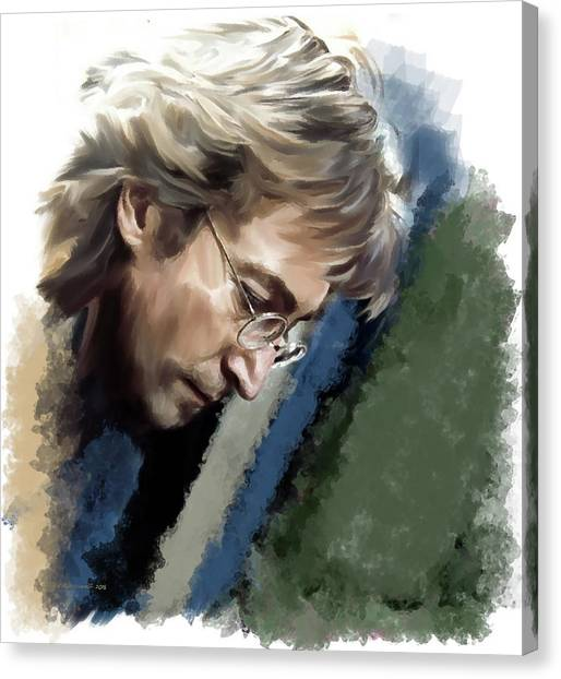 John Lennon Caring To Know Canvas Print