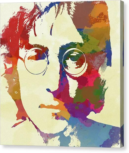 Yoko Ono Canvas Print - John Lennon by Dan Sproul