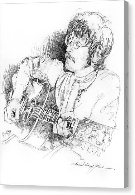 John Lennon Canvas Print - John Lennon by David Lloyd Glover
