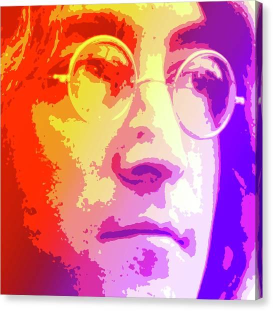 Musician Canvas Print - John Lennon by Greg Joens