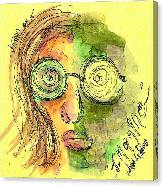 John Lennon Imagine Canvas Print