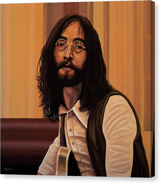 John Lennon Canvas Print - John Lennon Imagine by Paul Meijering