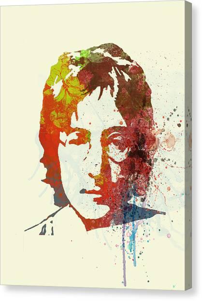 John Lennon Canvas Print - John Lennon by Naxart Studio