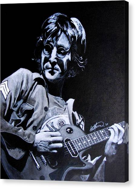 John Lennon Canvas Print by Luke Morrison