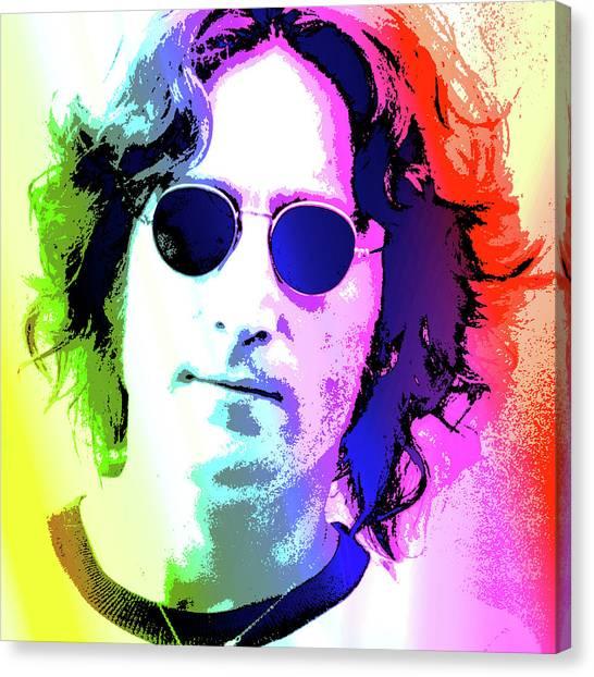 Musician Canvas Print - John Lennon - Nyc by Greg Joens