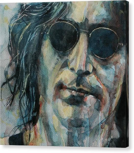 Yoko Ono Canvas Print - John Lennon  by Paul Lovering