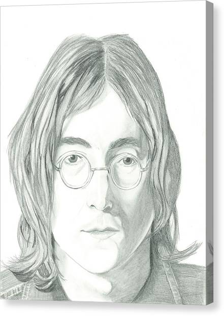 John Lennon Portrait Canvas Print by Seventh Son