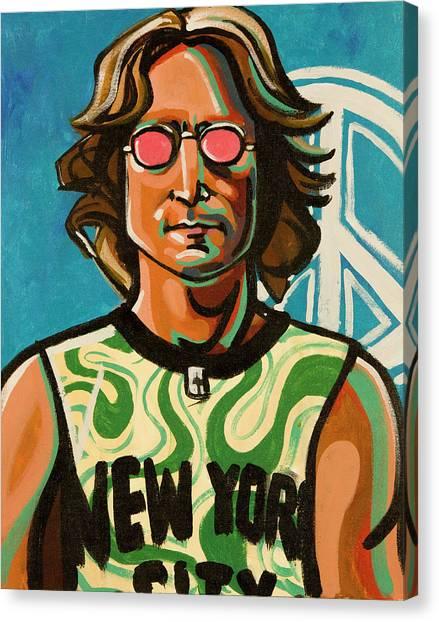 Musicians Canvas Print - John Lennon by Rob Tokarz