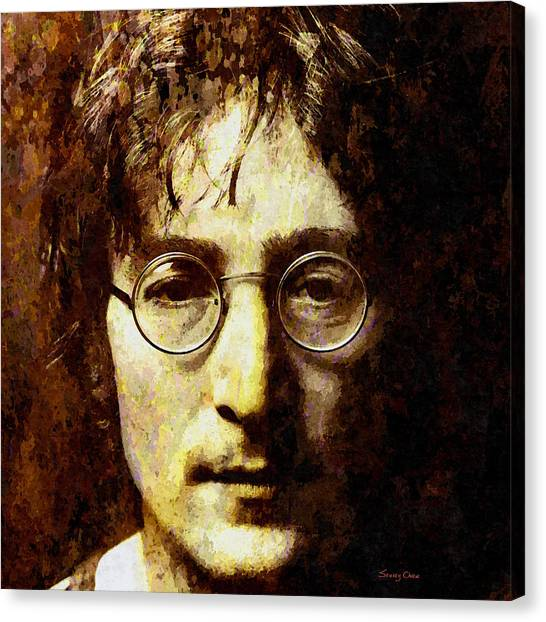 Yoko Ono Canvas Print - John Lennon by Stacey Chiew